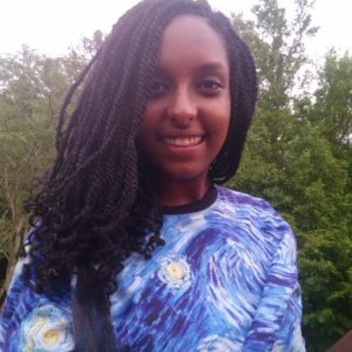 Foto do rosto de Fasica Mersha, consultora adolescente de 2017-2018