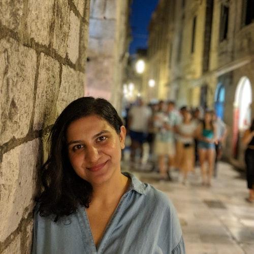 Aditi Arora, representante regional para Índia e Sul da Ásia (foto em plano americano)