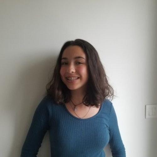 Foto de perto de Ines Gartote, consultora adolescente de 2018-2019