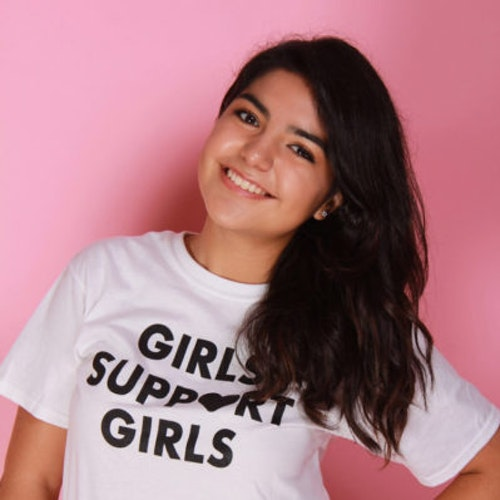 Foto de perto de Valeria Colunga, consultora adolescente da classe 2018-2019