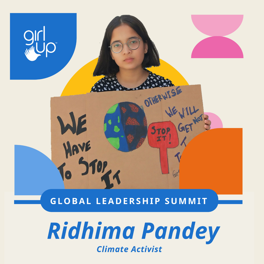 Ridhima Pandey is an 13-yr-old climate activist
